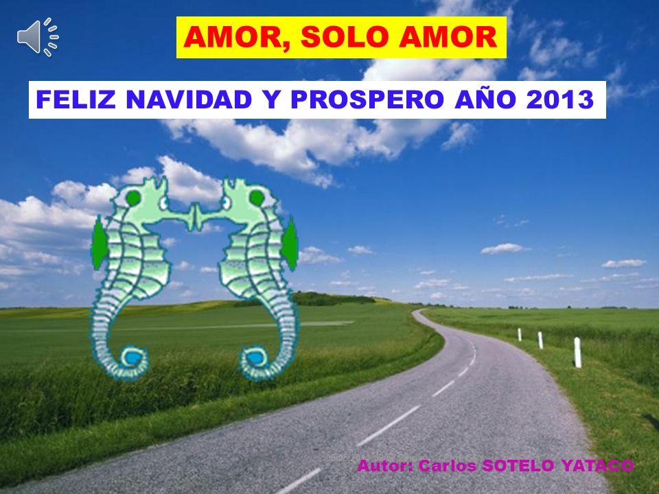 AMOR, SOLO AMOR 08/05/2014 02:59:24 p.m.Prof. CSY Autor: Carlos SOTELO YATACO FELIZ NAVIDAD Y PROSPERO AÑO 2013