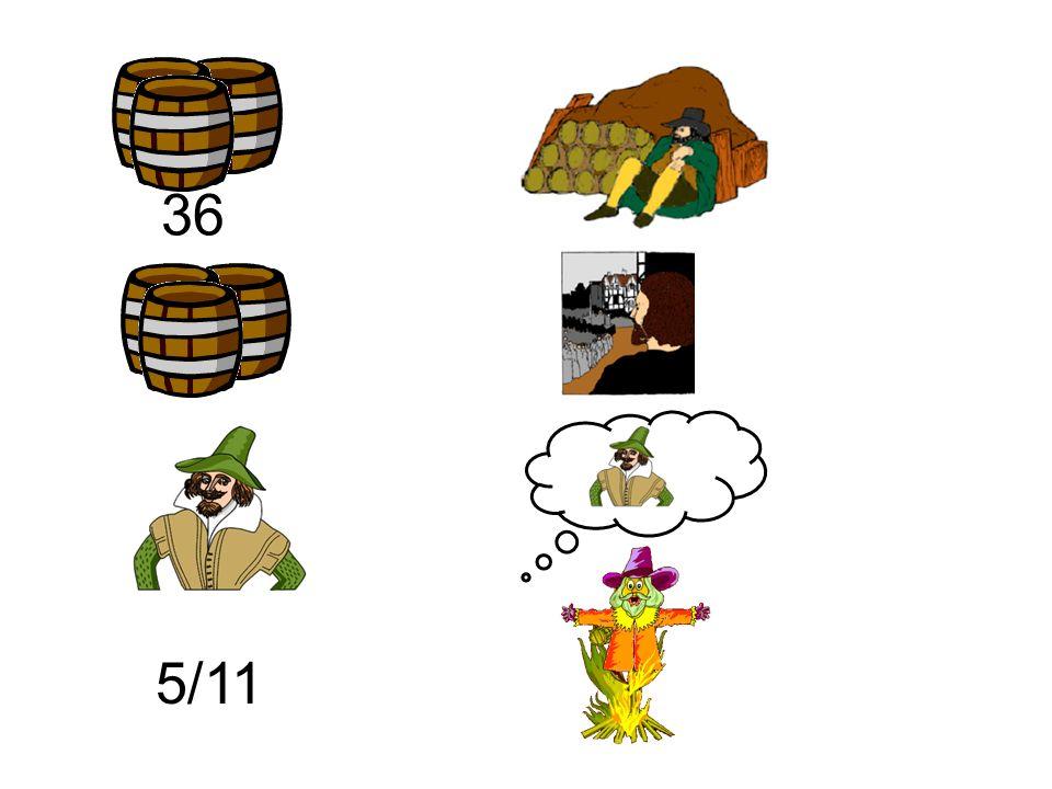 Treinta y seis barriles de pólvera Guy Fawkes el hombre que los guardaba pero los barriles los encontraron y los conspiradores a la horca los llevaron