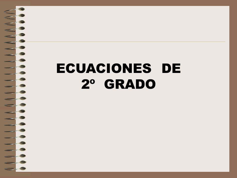 Ecuaciones de 2º grado : ¿Cuáles son.