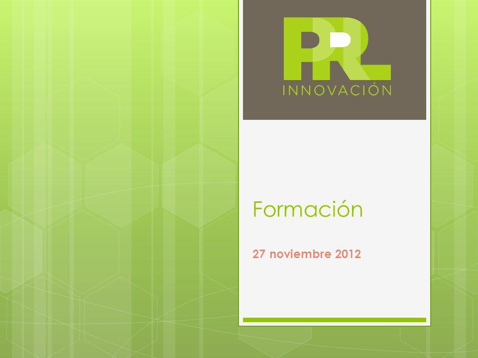 Formación 27 noviembre 2012