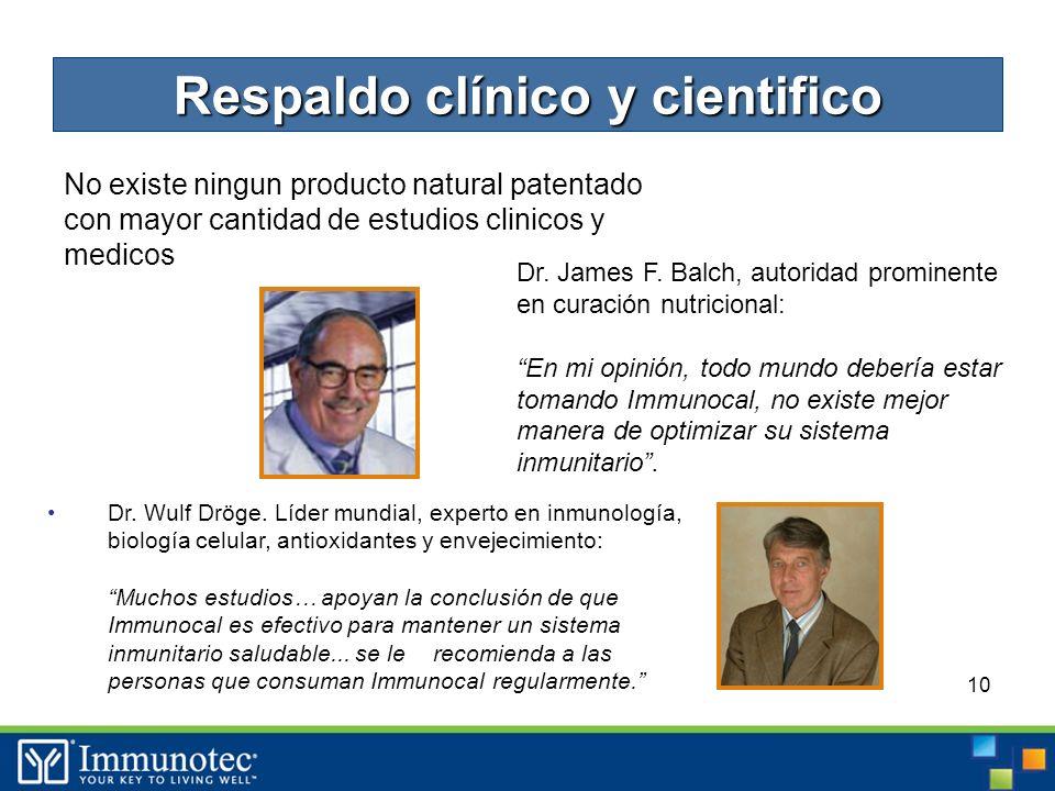 10 No existe ningun producto natural patentado con mayor cantidad de estudios clinicos y medicos Dr.