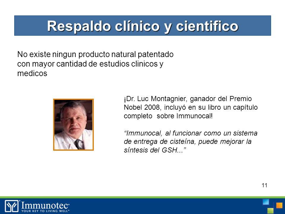 11 No existe ningun producto natural patentado con mayor cantidad de estudios clinicos y medicos ¡Dr.