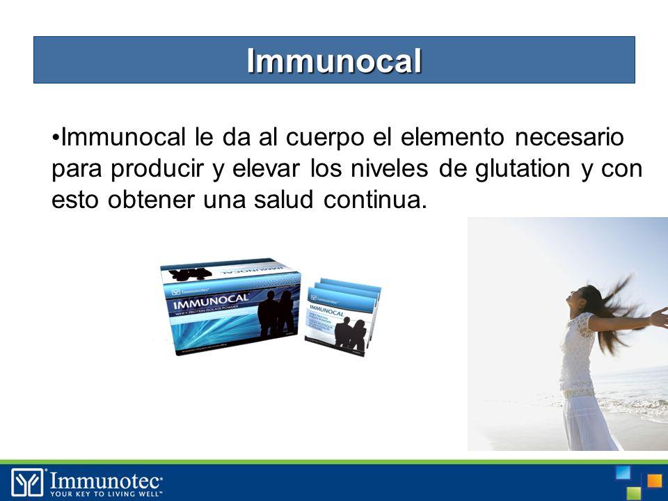 16 Immunocal le da al cuerpo el elemento necesario para producir y elevar los niveles de glutation y con esto obtener una salud continua.