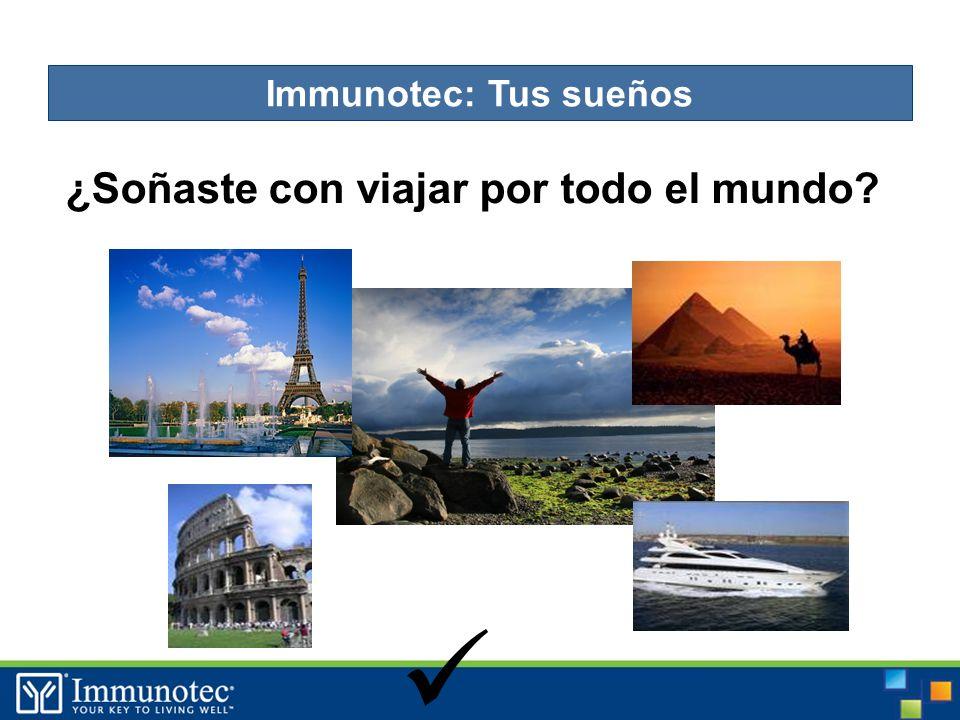 ¿Soñaste con viajar por todo el mundo Immunotec: Tus sueños