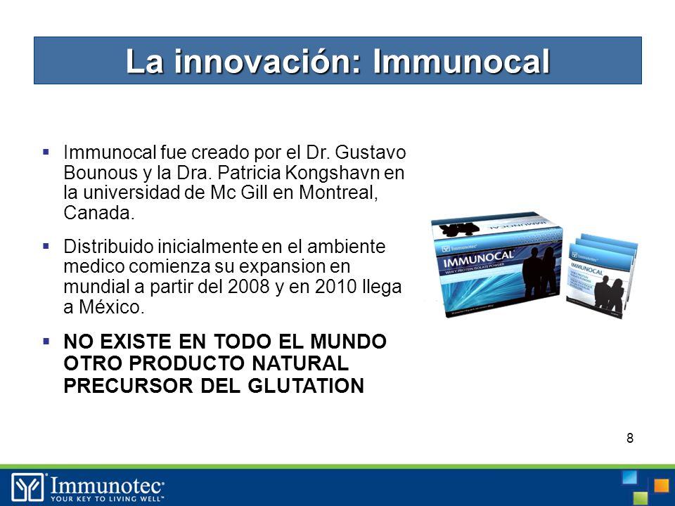 8 Immunocal fue creado por el Dr. Gustavo Bounous y la Dra.