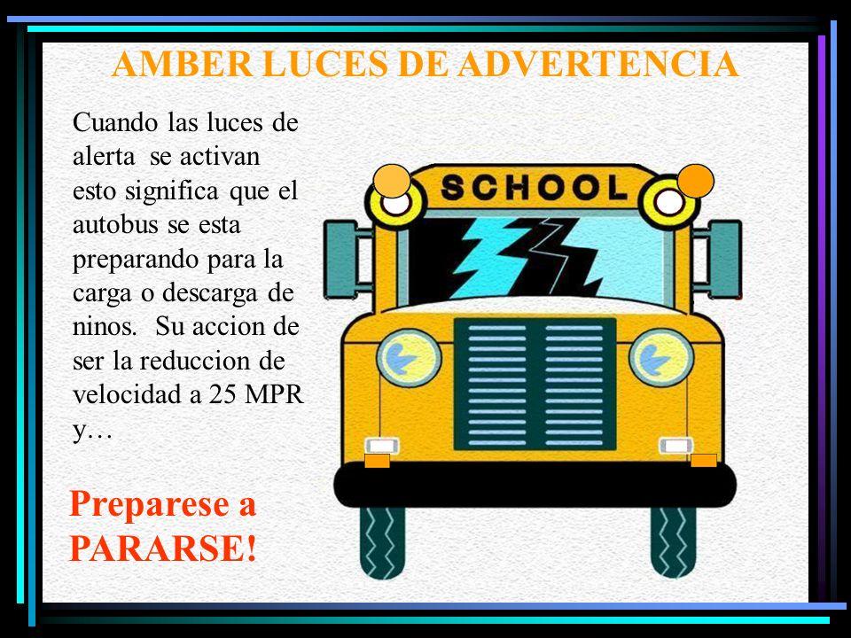 19 Cuando un conductor ve o escucha una sirena, campana, bocina o luces intermitentes de color rojo, el conductor inmediatamente salga ala carretera a