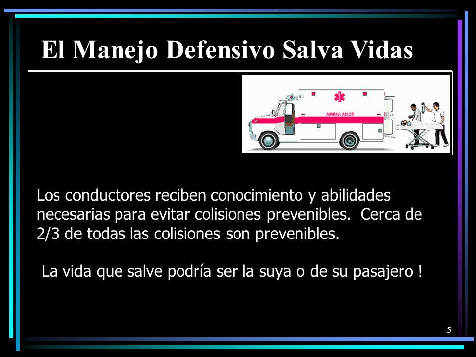 5 Los conductores reciben conocimiento y abilidades necesarias para evitar colisiones prevenibles.