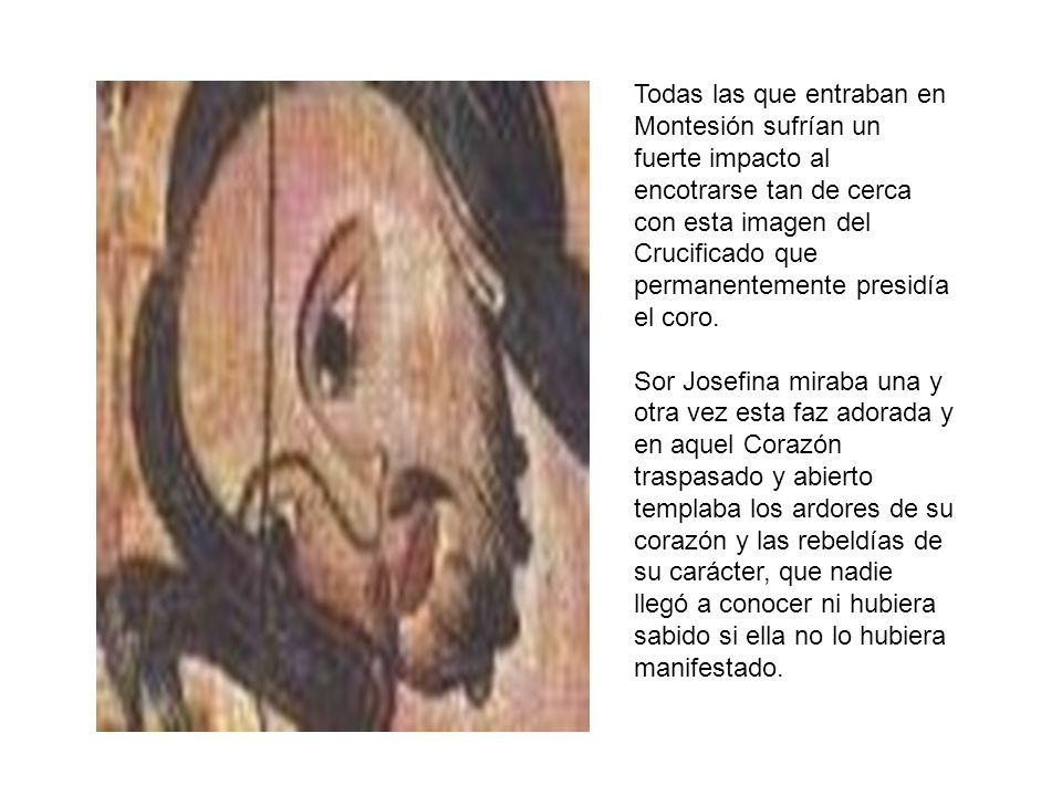 Todas las que entraban en Montesión sufrían un fuerte impacto al encotrarse tan de cerca con esta imagen del Crucificado que permanentemente presidía
