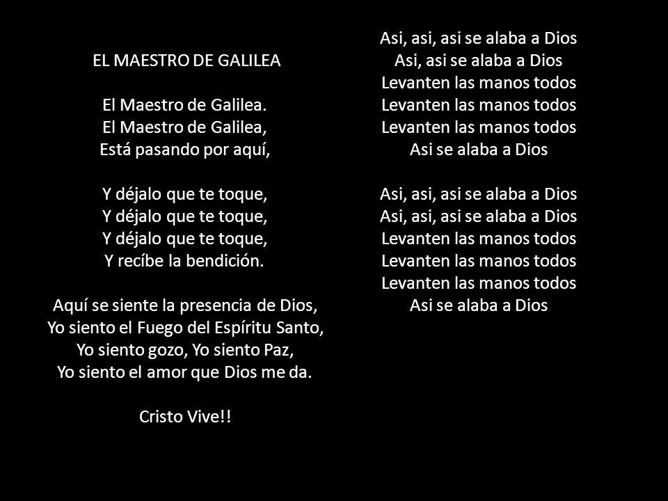 EL MAESTRO DE GALILEA El Maestro de Galilea.