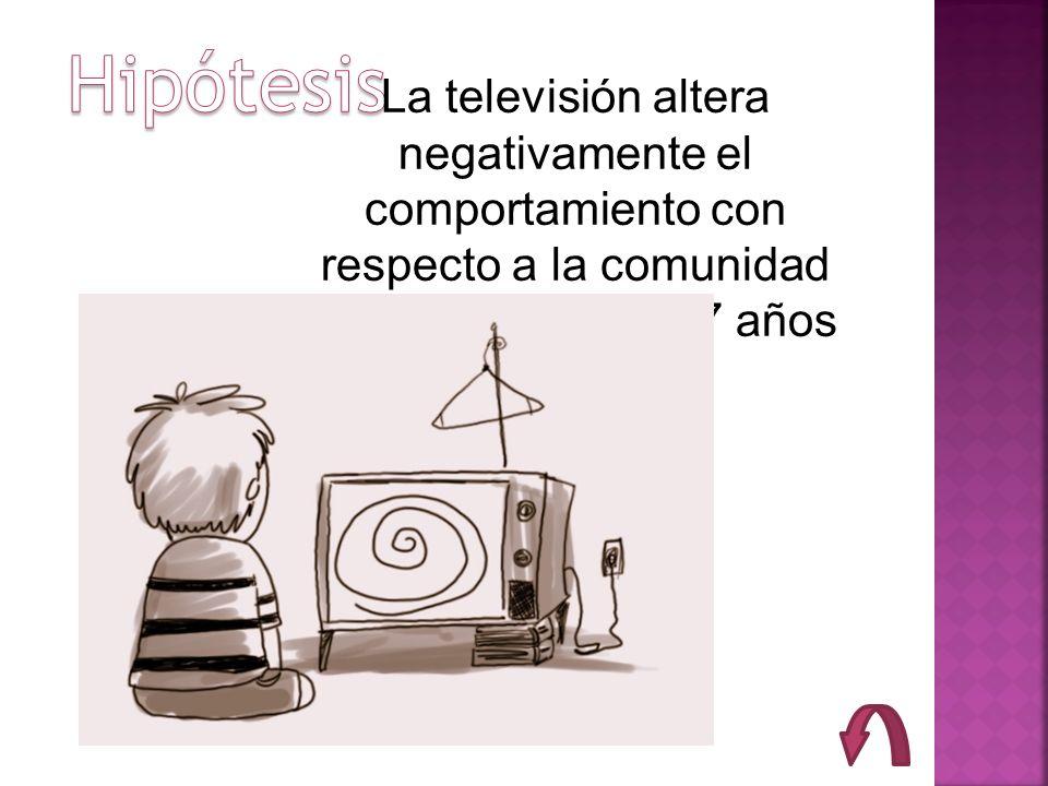 La televisión altera negativamente el comportamiento con respecto a la comunidad de niños entre 5 a 7 años