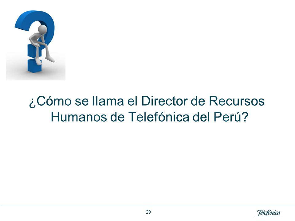 Área: Lorem ipsum Razón Social: Telefónica ¿Cómo se llama el Director de Recursos Humanos de Telefónica del Perú? 29