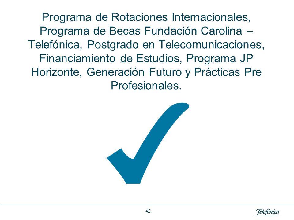 Área: Lorem ipsum Razón Social: Telefónica Programa de Rotaciones Internacionales, Programa de Becas Fundación Carolina – Telefónica, Postgrado en Tel