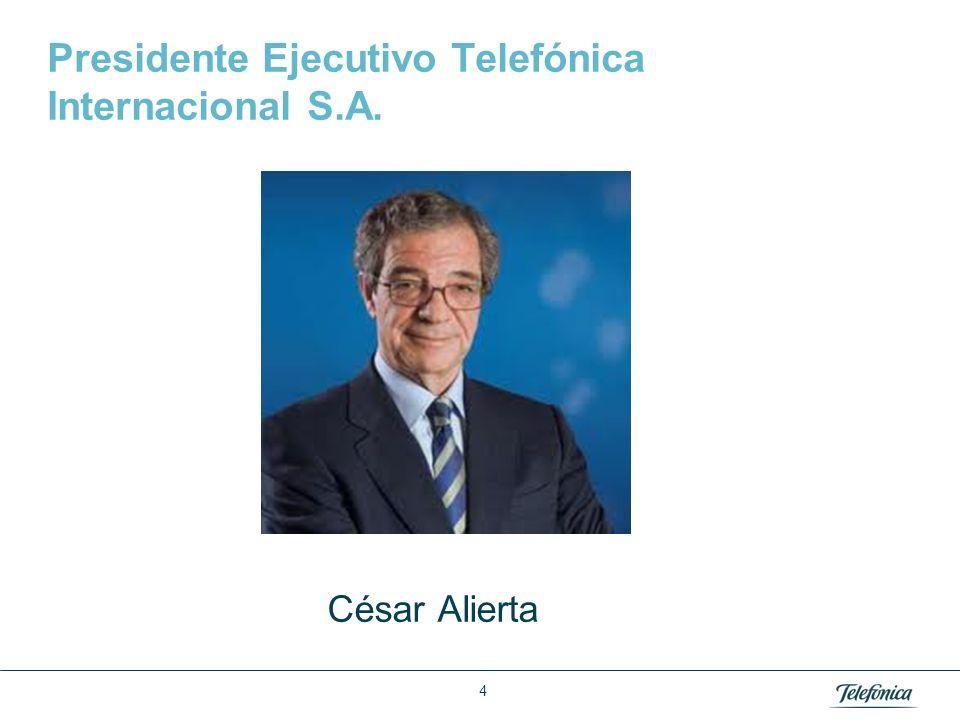 Área: Lorem ipsum Razón Social: Telefónica Presidente Ejecutivo Telefónica Internacional S.A. César Alierta 4