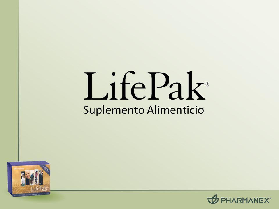 LifePak Contiene 8 formas de vitamina E natural Vitamina C tamponada Selenio, Cobre, Zinc, Manganeso Carotenoides: – Encontrados en 5-10 frutas y verduras por día Más de 20 Flavonoides: – Extracto de te verde, quercetina, naringenina, hesperidina, polifenoles de semilla de uva, resveratrol Ácido Alfalipoico +40 Antioxidantes
