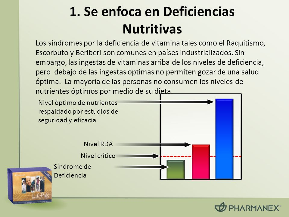 1. Se enfoca en Deficiencias Nutritivas Los síndromes por la deficiencia de vitamina tales como el Raquitismo, Escorbuto y Beriberi son comunes en paí