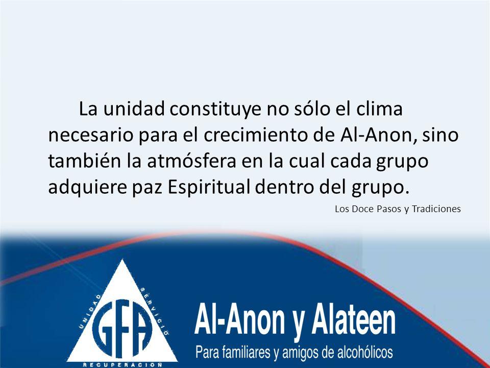 La unidad constituye no sólo el clima necesario para el crecimiento de Al-Anon, sino también la atmósfera en la cual cada grupo adquiere paz Espiritua