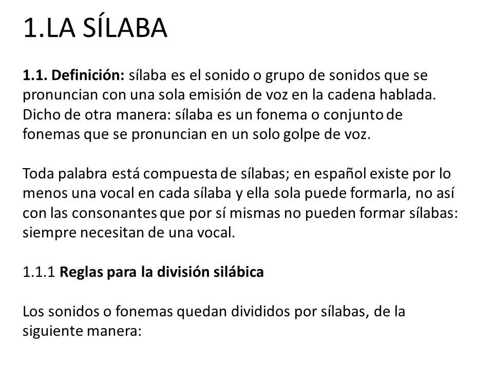 1.LA SÍLABA 1.1.