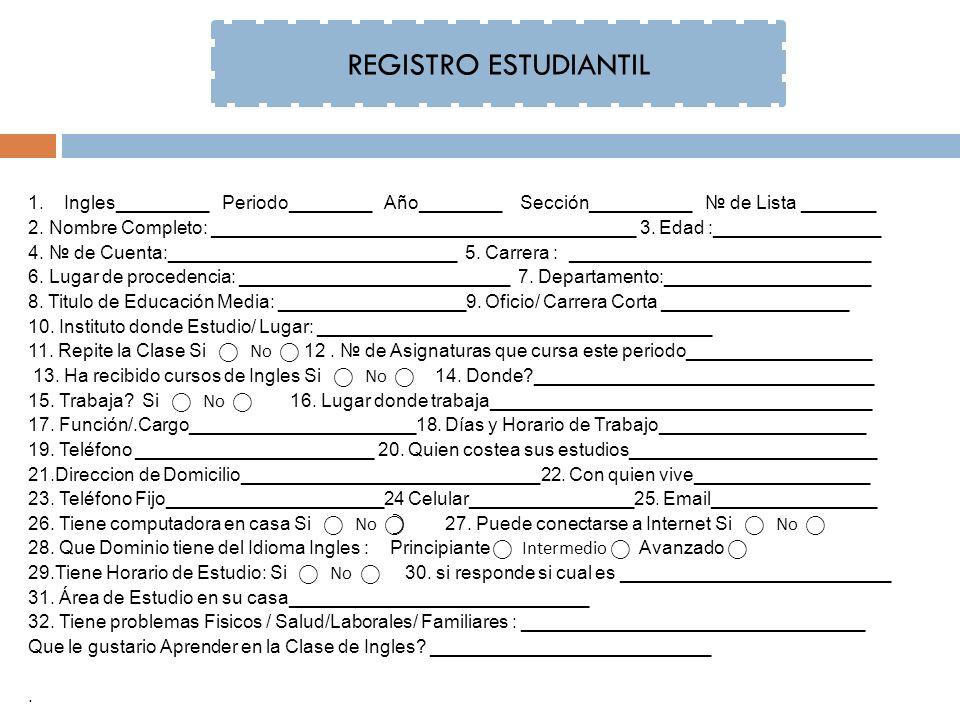 REGISTRO ESTUDIANTIL 1.