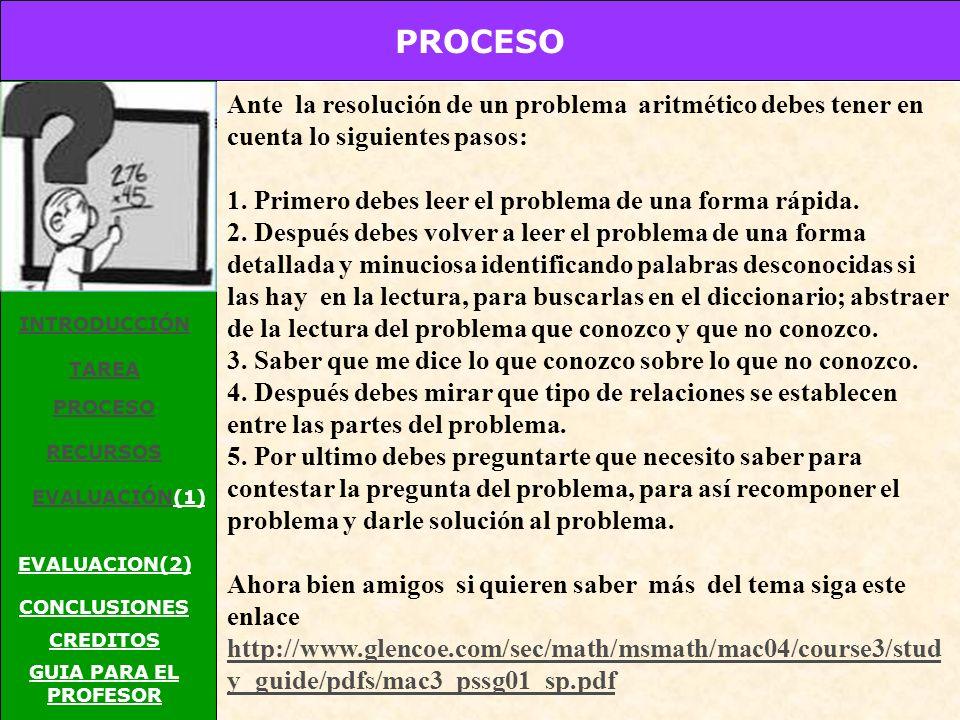 TAREA INTRODUCCIÓN TAREA PROCESO RECURSOS EVALUACIÓNEVALUACIÓN(1) EVALUACION(2) CONCLUSIONES CREDITOS GUIA PARA EL PROFESOR 1234 5678 9101112 13141516 Cambia de lugar 8 números de tal forma que las sumas de sus filas y columnas es igual a 34