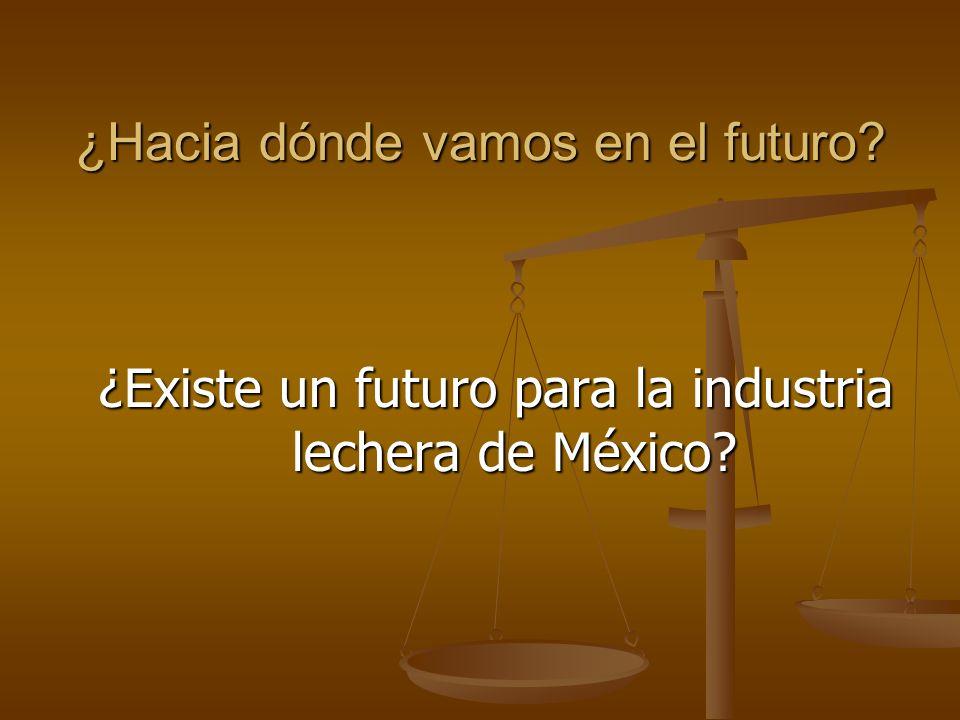 ¿Hacia dónde vamos en el futuro? ¿Existe un futuro para la industria lechera de México?