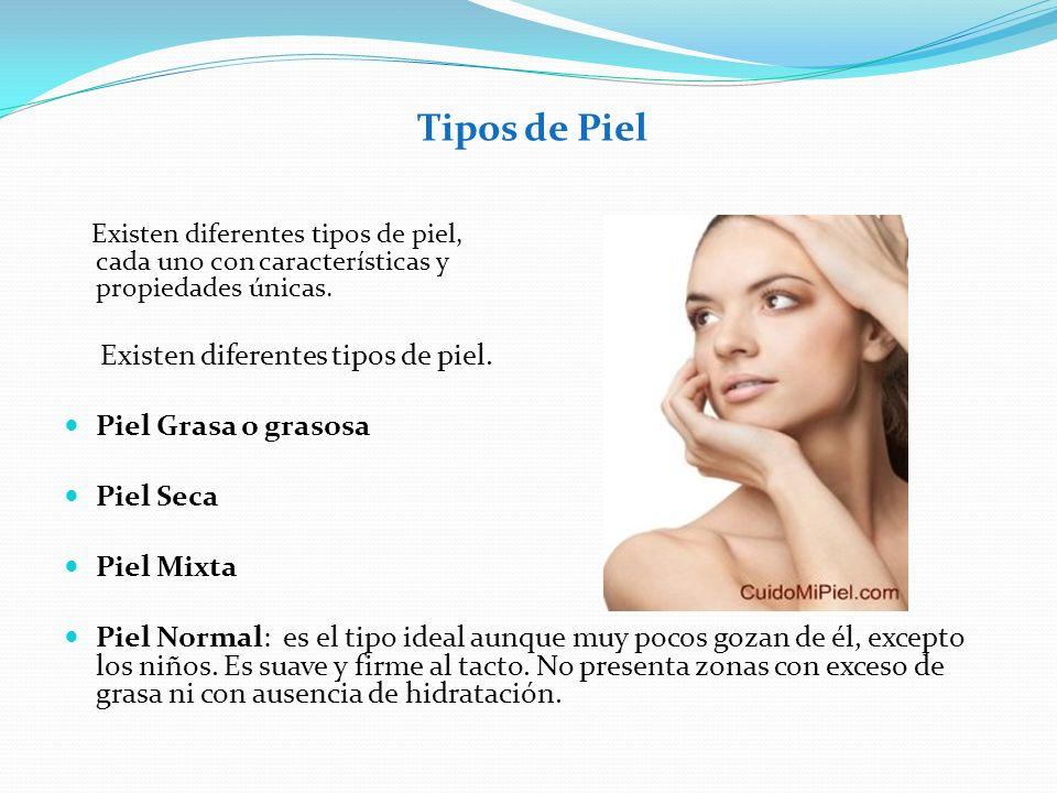 Tipos de Piel Existen diferentes tipos de piel, cada uno con características y propiedades únicas. Existen diferentes tipos de piel. Piel Grasa o gras
