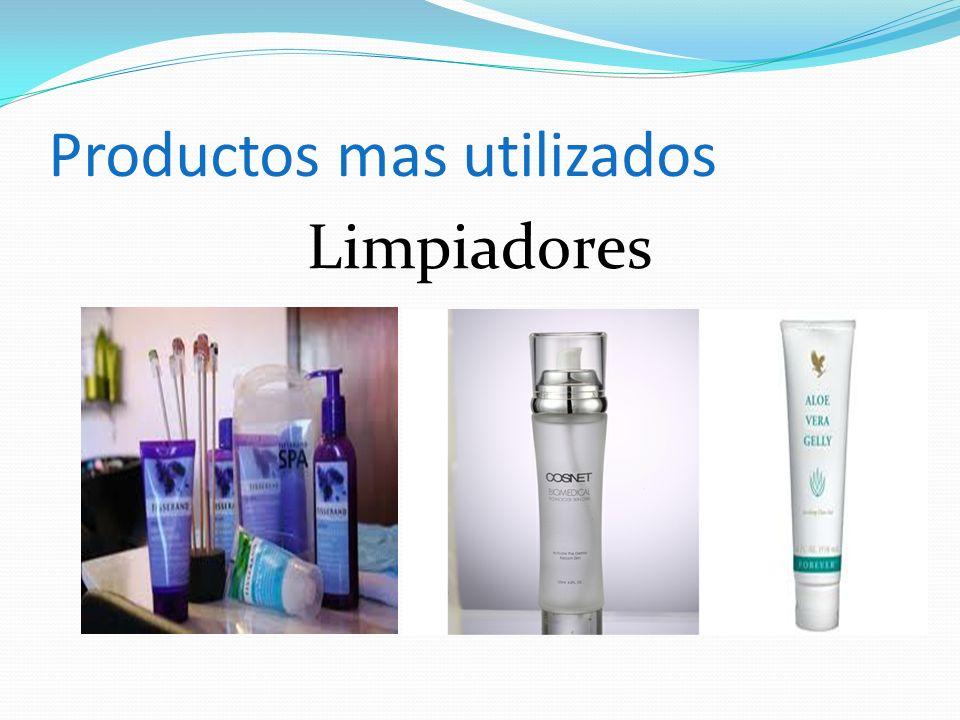 Productos mas utilizados Limpiadores
