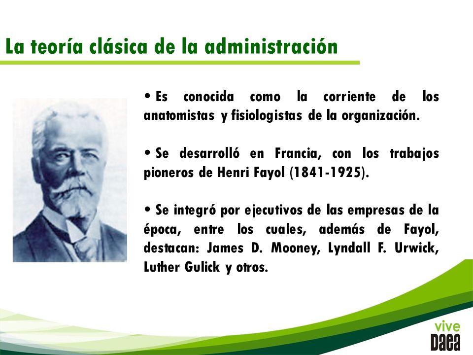 La teoría clásica de la administración Es conocida como la corriente de los anatomistas y fisiologistas de la organización.