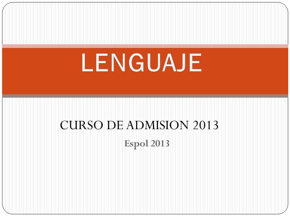 Espol 2013 CURSO DE ADMISION 2013