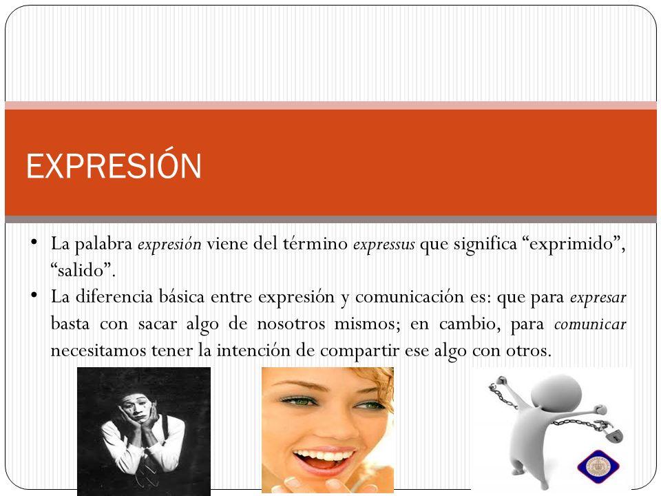 EXPRESIÓN La palabra expresión viene del término expressus que significa exprimido, salido.