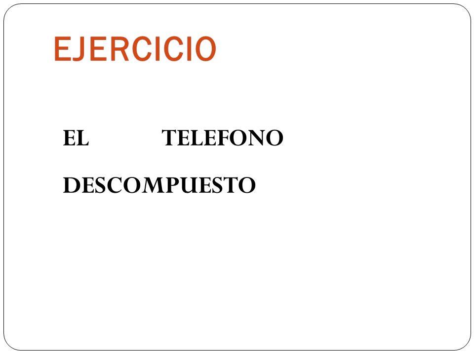 EJERCICIO EL TELEFONO DESCOMPUESTO