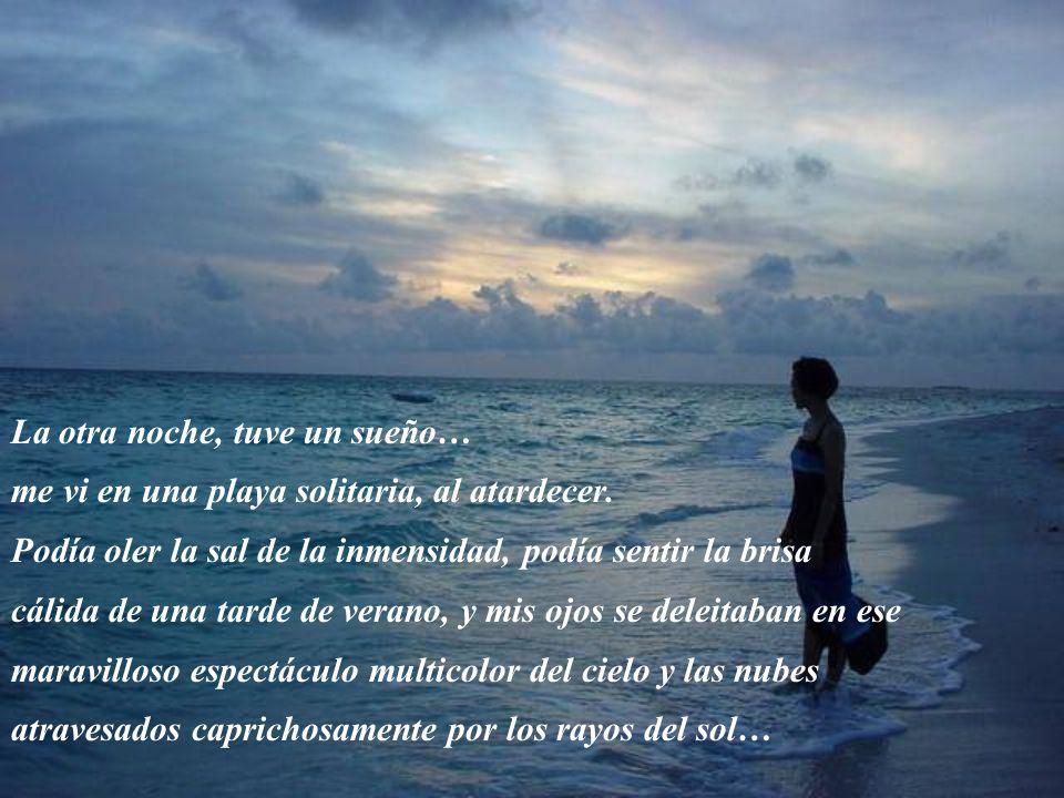 La otra noche, tuve un sueño… me vi en una playa solitaria, al atardecer.