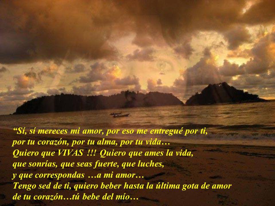 Al fin, tomé aliento, y pude pronunciar estas palabras: Mi Señor, yo no merezco tu amor tan grande, y Tú no mereces sufrir por mí… Me miró con tanta d