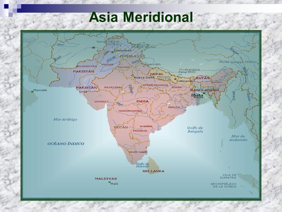 ASPECTO FISIOGRÁFICO En el relieve de la región se distinguen las siguientes regiones: El Sistema montañoso del Himalaya conformado por un grupo de cordilleras jóvenes de la era terciaria, qué a manera de arco se extienden desde el valle del Indo hasta el Brahmaputra.