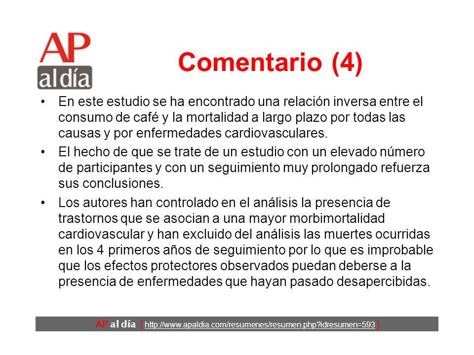 AP al día [ http://www.apaldia.com/resumenes/resumen.php?idresumen=593 ] Comentario (3) En estas discrepancias pueden influir varios hechos: –El consu