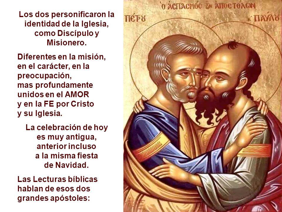 La Liturgia de hoy celebra la solemnidad de dos apóstoles, que tuvieron una presencia marcada en la Iglesia primitiva: San Pedro y San Pablo. PABLO, e