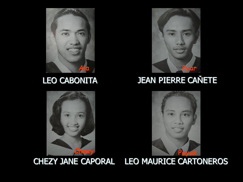 LEO CABONITA JEAN PIERRE CA Ň ETE CHEZY JANE CAPORAL LEO MAURICE CARTONEROS Chezy Ala Payok Pyar