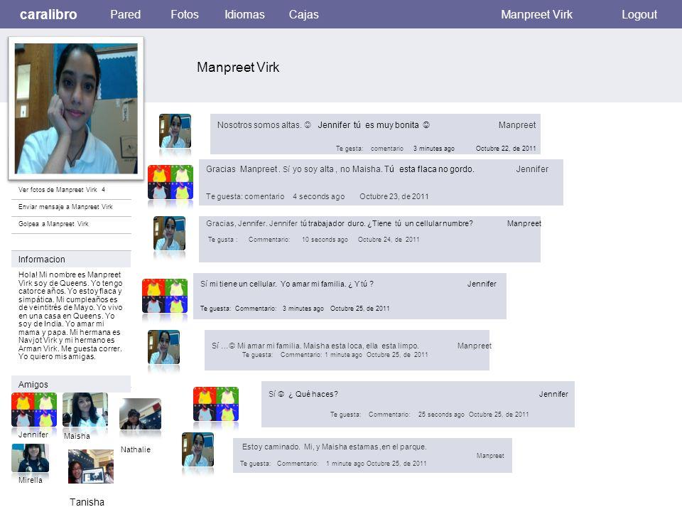Ver fotos de Manpreet Virk 4 Enviar mensaje a Manpreet Virk Golpea a Manpreet Virk Informacion Amigos Jennifer Hola.