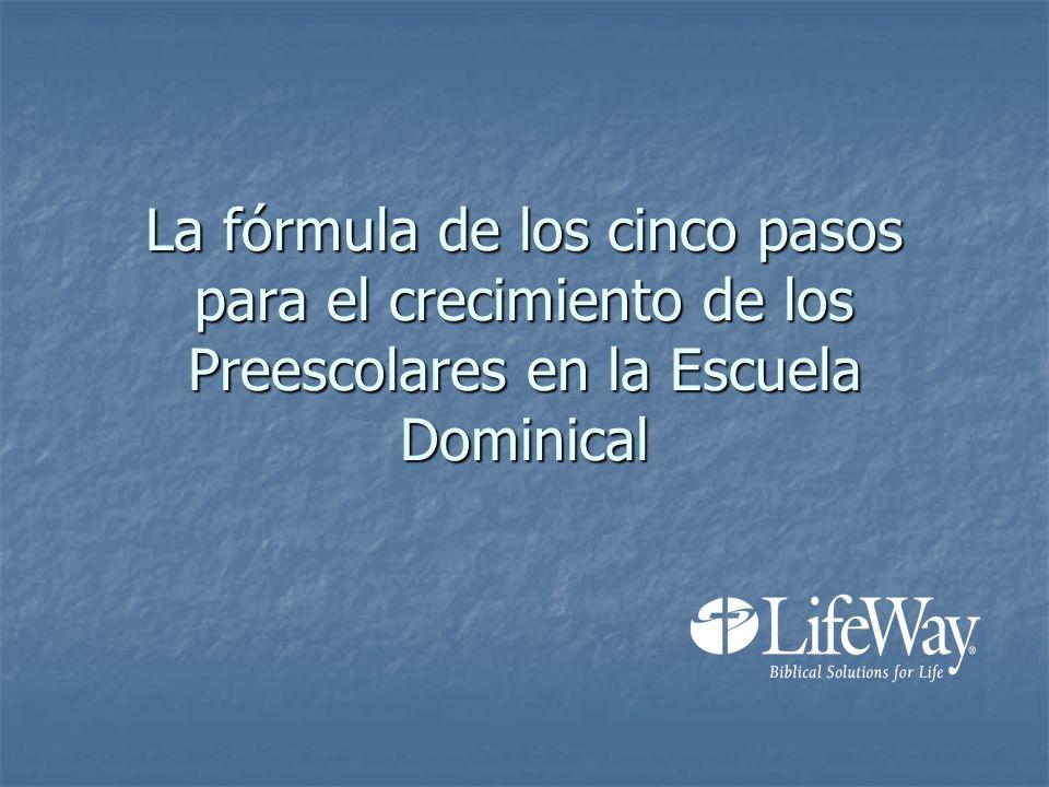 La fórmula de los cinco pasos para el crecimiento de los Preescolares en la Escuela Dominical