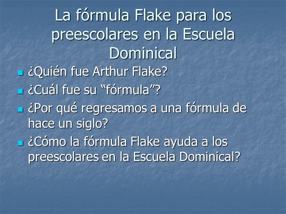 La fórmula Flake para los preescolares en la Escuela Dominical ¿Quién fue Arthur Flake? ¿Quién fue Arthur Flake? ¿Cuál fue su fórmula? ¿Cuál fue su fó