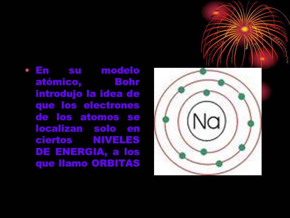 El concluyó, que cuando un electrón recibe energía brinca de nivel o de órbita, y cuando deja de recibir esta energia, la libera retrocediendo de nivel, y produciendo luz.