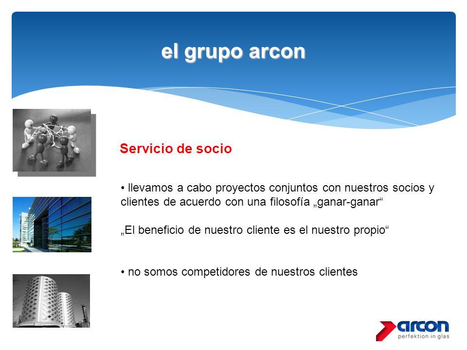 el grupo arcon Servicio de socio llevamos a cabo proyectos conjuntos con nuestros socios y clientes de acuerdo con una filosofía ganar-ganar El benefi