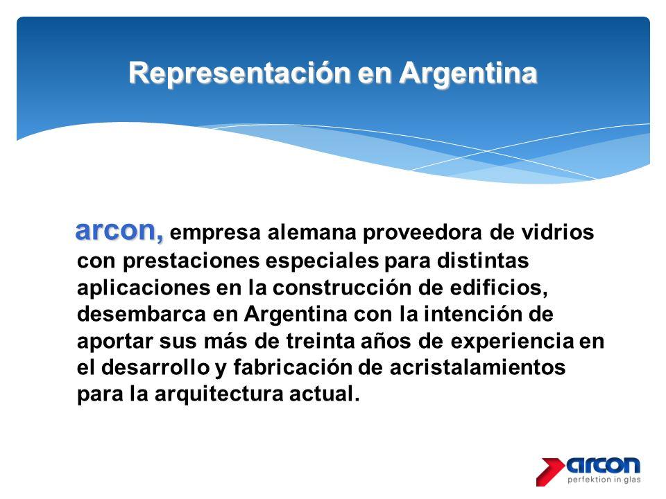Representación en Argentina arcon, arcon, empresa alemana proveedora de vidrios con prestaciones especiales para distintas aplicaciones en la construc