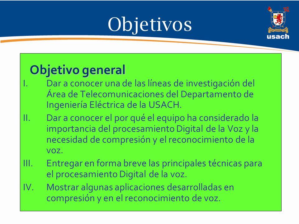 I- Principales Líneas de Investigación del área de Telecomunicaciones 1.Procesamiento digital de señales, en especial el procesamiento digital de Voz.