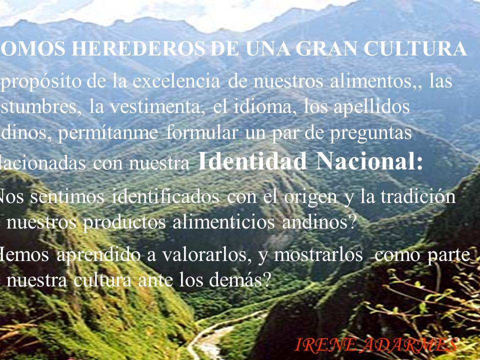 LA OCA.- Originaria de los Andes Centrales, del Perú.´Posee gran cantidad de azúcares, y harinas,, posee alto valor de Acido Ascórbico (77.5 mg), energía (50 k/cal) por cada 100 gramos, nos proporciona, proteínas, carbohidratos, fibra, calcio, entre otros.