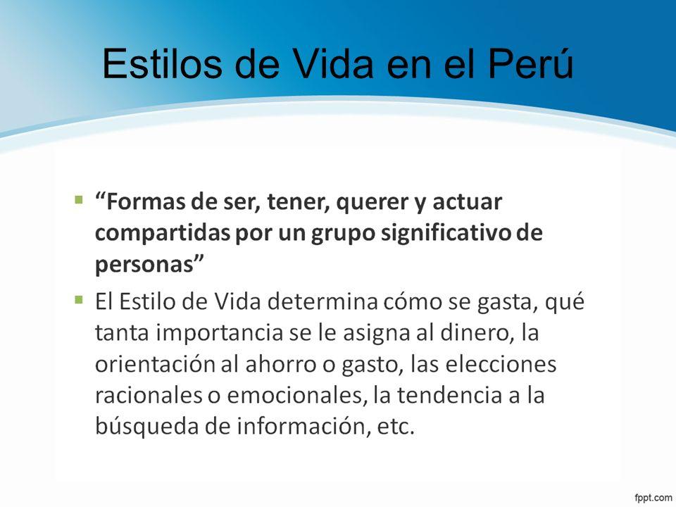 Estilos de Vida en el Perú