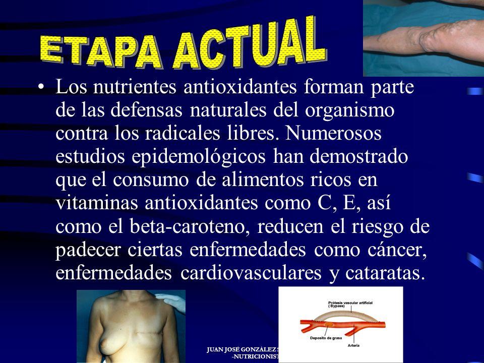 JUAN JOSÉ GONZÁLEZ SANTIAGO -NUTRICIONISTA- En 1943 fue cuando se publicaron por la RDA las primeras normas, siendo sometidas a revisión periódicament