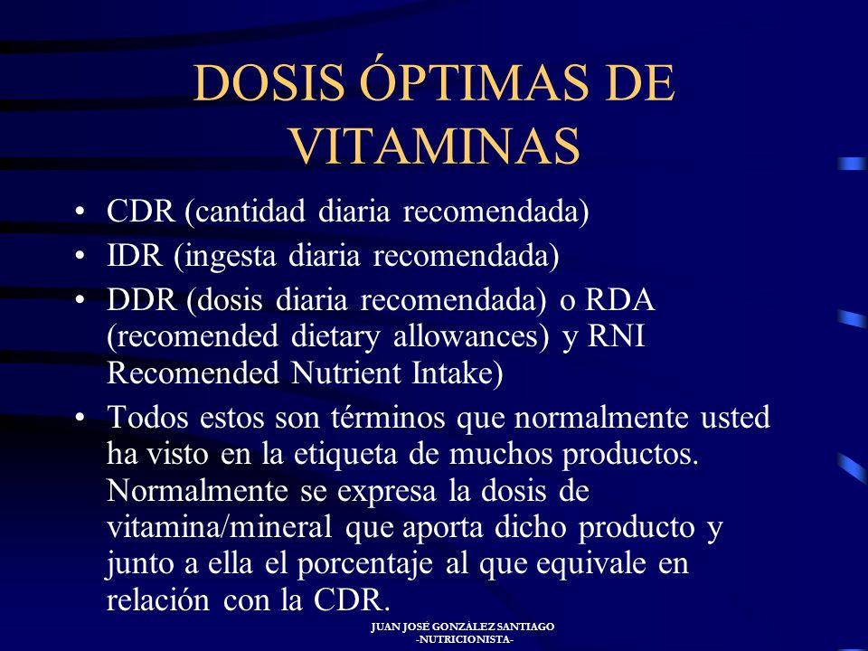 JUAN JOSÉ GONZÁLEZ SANTIAGO -NUTRICIONISTA- En la actualidad los organismos internacionales estudian el papel, no sólo de las vitaminas antioxidantes