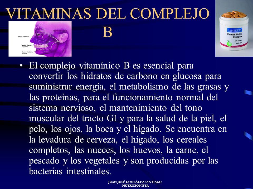 JUAN JOSÉ GONZÁLEZ SANTIAGO -NUTRICIONISTA- La falta de vitamina A disminuye la resistencia a la infección de las mucosas. Suele haber retraso de crec