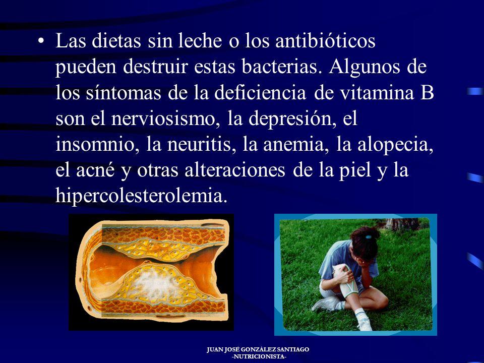JUAN JOSÉ GONZÁLEZ SANTIAGO -NUTRICIONISTA- VITAMINAS DEL COMPLEJO B El complejo vitamínico B es esencial para convertir los hidratos de carbono en gl