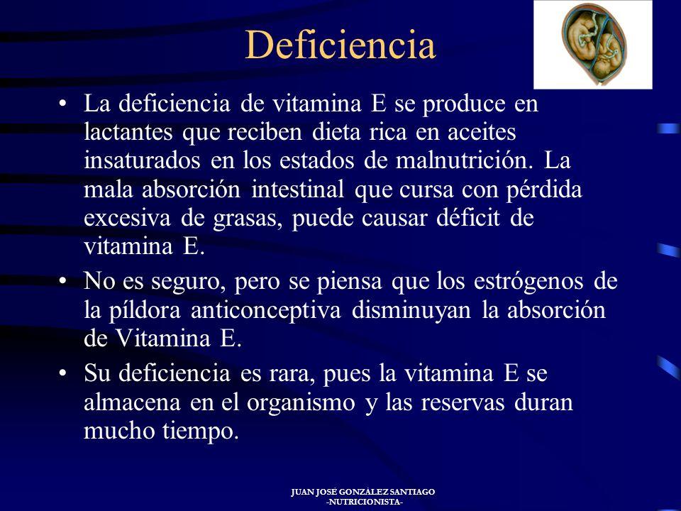 JUAN JOSÉ GONZÁLEZ SANTIAGO -NUTRICIONISTA- La vitamina E se encuentra en el germen de trigo y en el aceite con él confeccionado, en las semillas de s